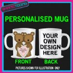 HAPPY ANNIVERSARY WEDDING MUG WIFE HUSBAND LOVE  PERSONALISED  ADD PICTURE